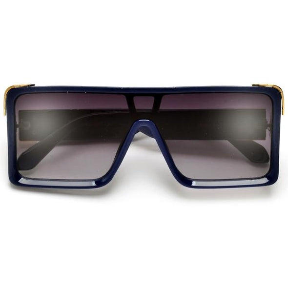 Beveled  Detailed Square Sunglasses