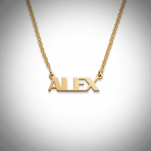 18K Capital Letters Name Necklace