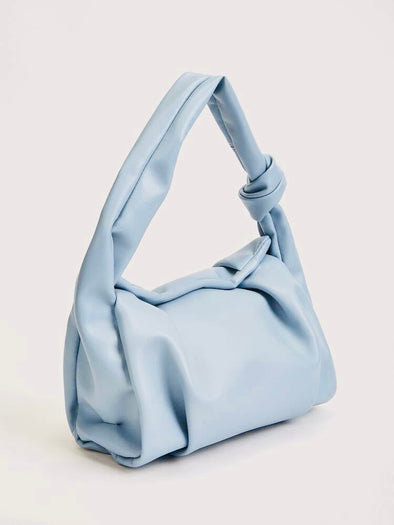 Sky Blue Ruched Bag
