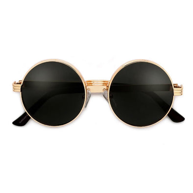 Triple Thick Round Sunglasses