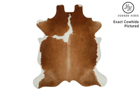 Brown And White Cowhide Rug #11685