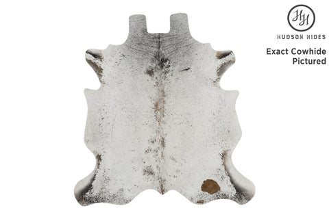 Salt And Pepper Brown Cowhide Rug #12250