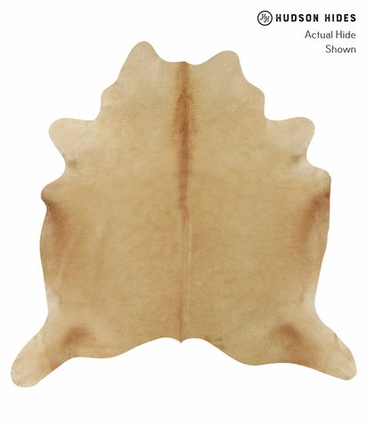 Solid Brown Cowhide Rug #12585