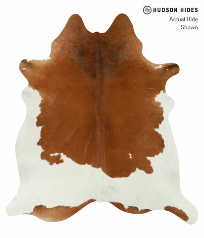 Brown and White Cowhide Rug #12723
