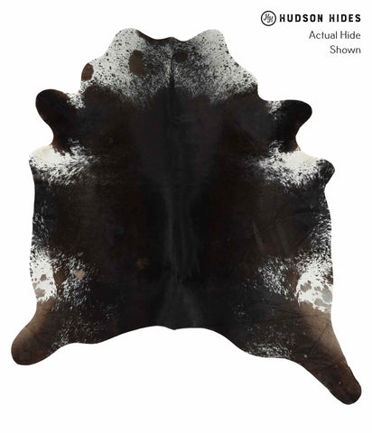 Salt and Pepper Black Cowhide Rug #13979