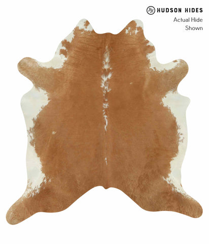 Beige and White Cowhide Rug #14270
