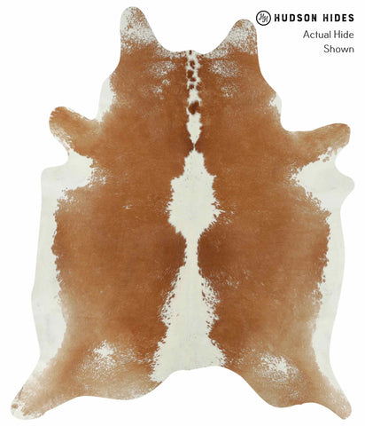 Beige and White Cowhide Rug #14575