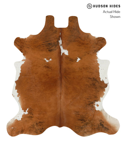 Brown and White Cowhide Rug #15900