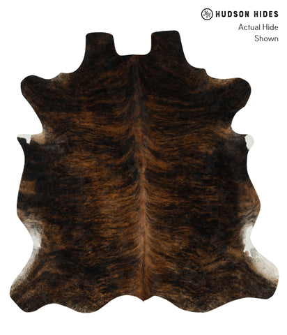 Dark Brindle Cowhide Rug #15984