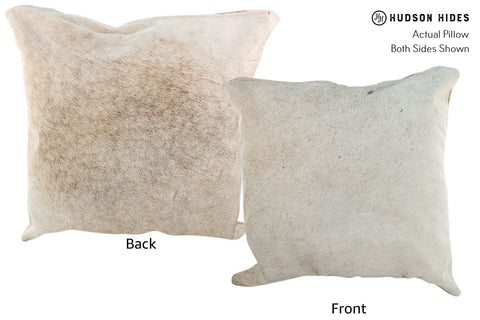 Gris Beige Cowhide Pillow #17011