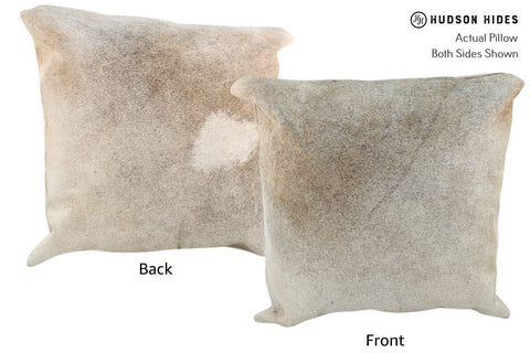 Gris Beige Cowhide Pillow #17015