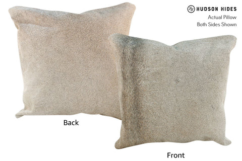 Gris Beige Cowhide Pillow #17043