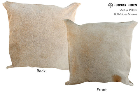 Gris Beige Cowhide Pillow #17045