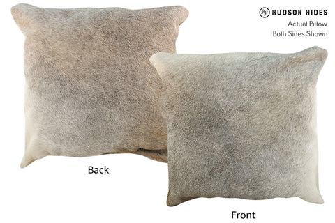 Gris Beige Cowhide Pillow #17050