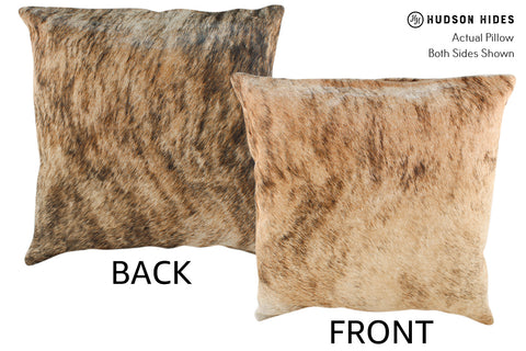 Light Brindle Cowhide Pillow #18648