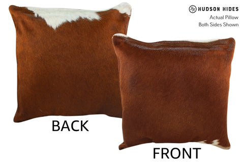 Brown and White Cowhide Pillow #18700
