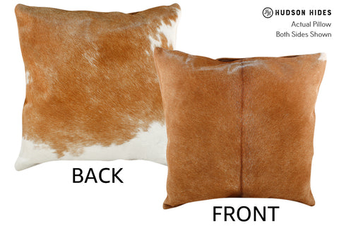 Brown and White Cowhide Pillow #18761