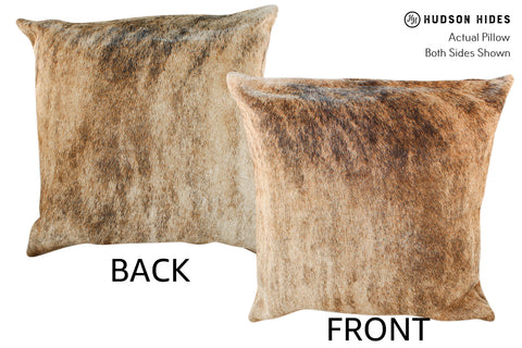Light Brindle Cowhide Pillow #18783