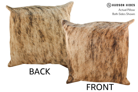 Light Brindle Cowhide Pillow #18800