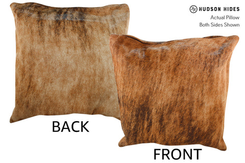 Medium Brindle Cowhide Pillow #18851