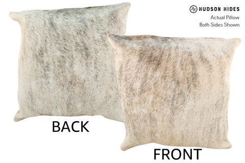 Light Brindle Cowhide Pillow #18857