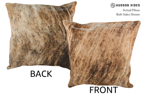 Light Brindle Cowhide Pillow #18858