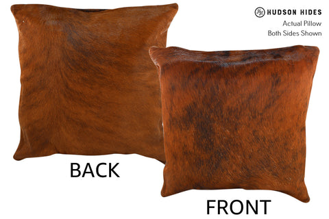 Medium Brindle Cowhide Pillow #18862