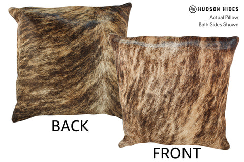 Light Brindle Cowhide Pillow #18863
