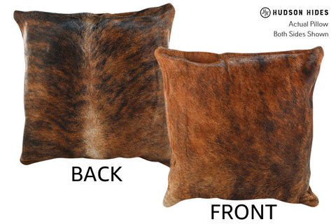 Medium Brindle Cowhide Pillow #18868