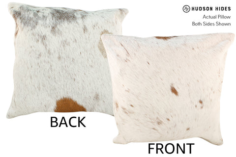 Brown and White Cowhide Pillow #18882