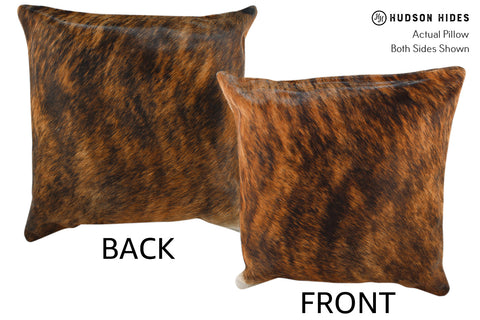 Medium Brindle Cowhide Pillow #18905
