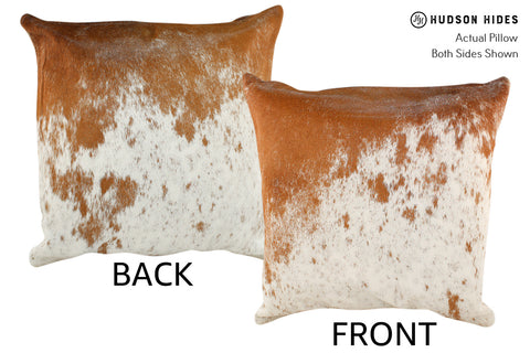 Brown and White Cowhide Pillow #18909