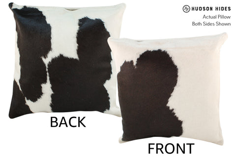 Black and White Cowhide Pillow #18911