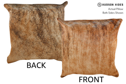 Medium Brindle Cowhide Pillow #18912