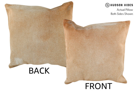 Solid Brown Cowhide Pillow #18924