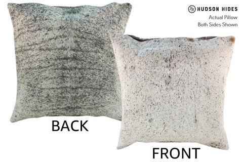 Salt and Pepper Black Cowhide Pillow #18925