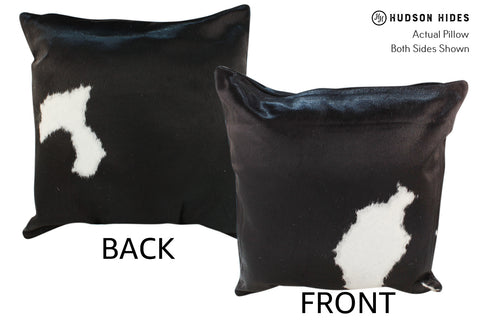 Black and White Cowhide Pillow #18929