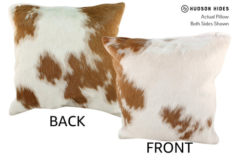 Brown and White Cowhide Pillow #18930