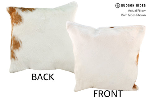 Brown and White Cowhide Pillow #18934