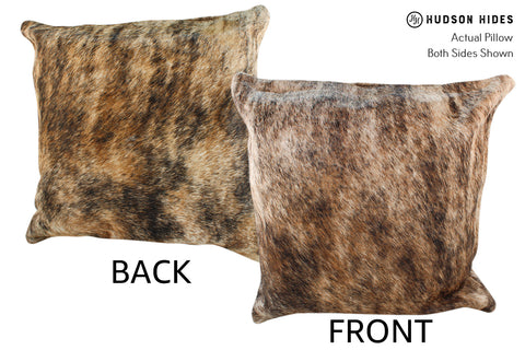 Light Brindle Cowhide Pillow #18948