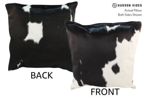 Black and White Cowhide Pillow #18955