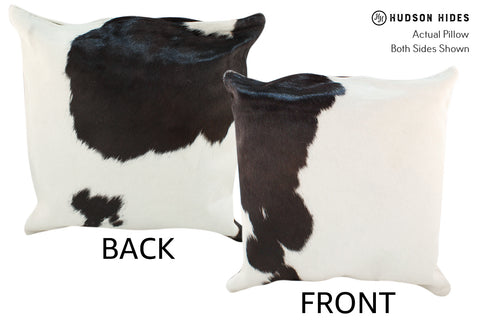 Black and White Cowhide Pillow #18956