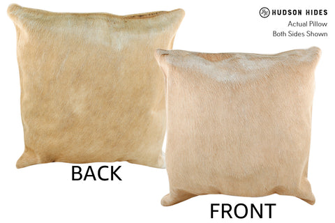 Champagne Cowhide Pillow #18960