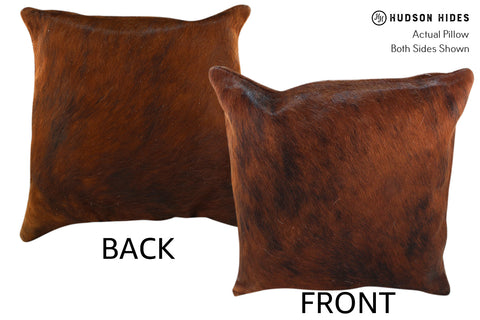 Medium Brindle Cowhide Pillow #18964