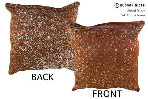 Salt and Pepper Brown Cowhide Pillow #18965