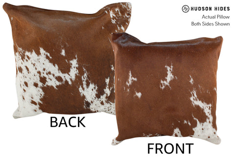 Salt and Pepper Brown Cowhide Pillow #18968