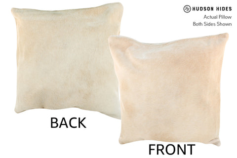 Champagne Cowhide Pillow #18971