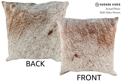 Salt and Pepper Brown Cowhide Pillow #18974