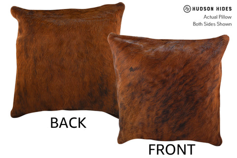 Medium Brindle Cowhide Pillow #18975