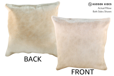 Champagne Cowhide Pillow #18977